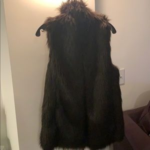 Club Monaco faux fur vest.
